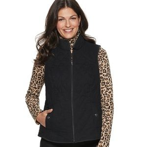 Black Quilted Pattern Vest by Croft & Barrow